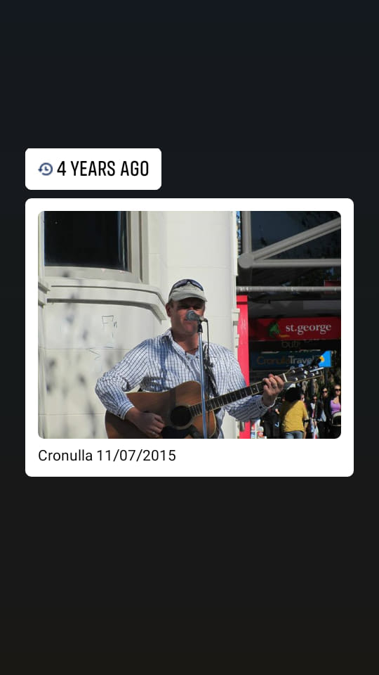 Mike Mckendry busking in Cronulla Sydney 2015